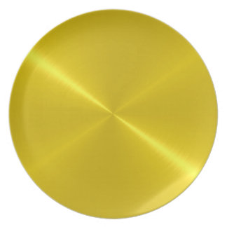 Prato Metal do aço do ouro