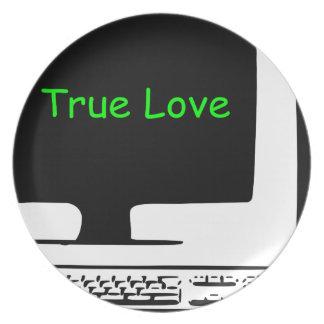 Prato Meu amor verdadeiro meu computador