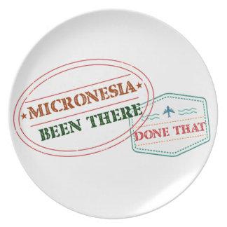 Prato Micronesia feito lá isso