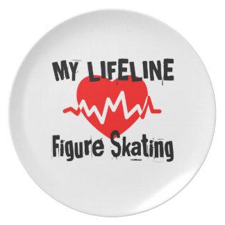 Prato Minha linha de vida patinagem artística ostenta o