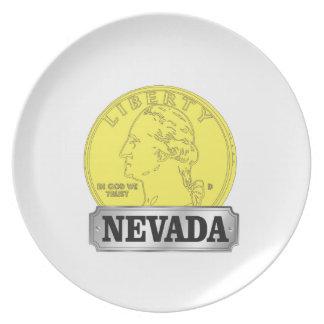 Prato Moeda de ouro de Nevada