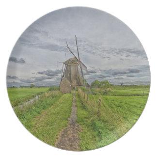 Prato moinhos de vento do local do património mundial de