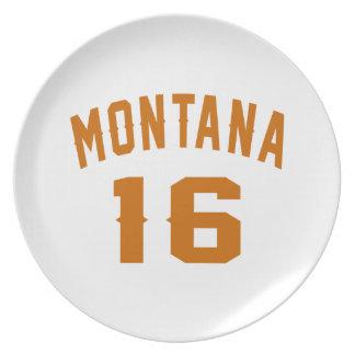 Prato Montana 16 designs do aniversário
