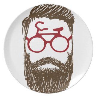Prato Motociclista do hipster