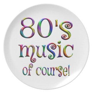 Prato música 80s de Couse