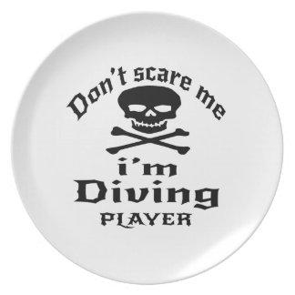Prato Não faz o susto mim que eu sou jogador de mergulho