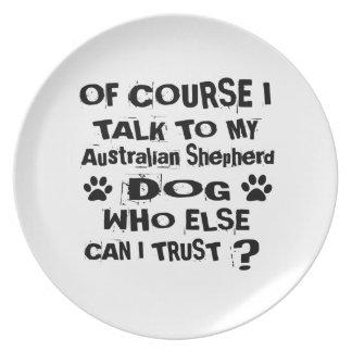 Prato Naturalmente eu falo a meu DES australiano do cão