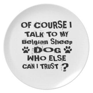 Prato Naturalmente eu falo a meu design belga do cão do