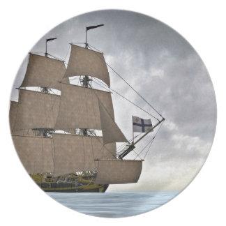 Prato Navigação Corveta em um dia lindo