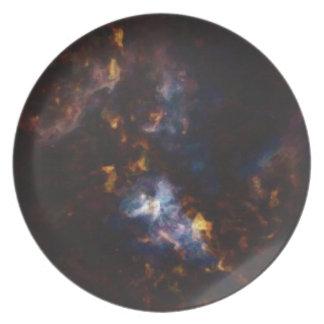 Prato Nebulla abstrato com a nuvem cósmica galáctica 34