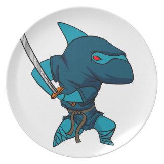Prato Ninja do tubarão