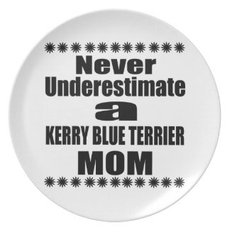 Prato Nunca subestime a mamã de TERRIER de AZUL de KERRY