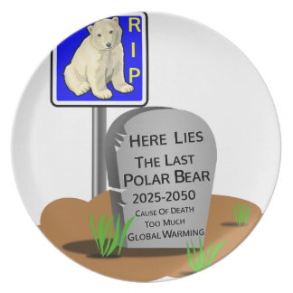 Prato O aquecimento global, RASGA o urso polar 2050