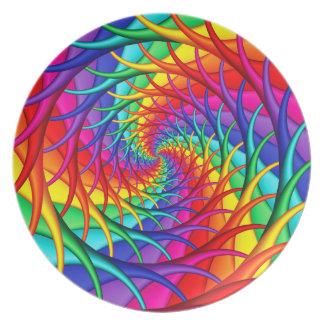 Prato O arco-íris enraíza a placa da melamina
