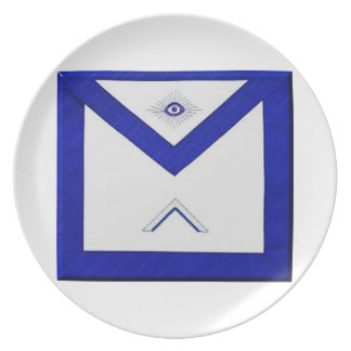 Prato O avental do mestre do Freemason
