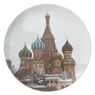 Prato O cathedral_russo da manjericão do santo
