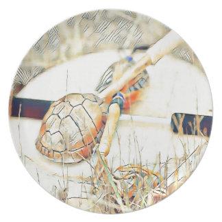 Prato O clã da tartaruga chocalha e rufa