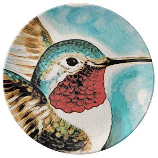 Prato O colibri bonito da costela