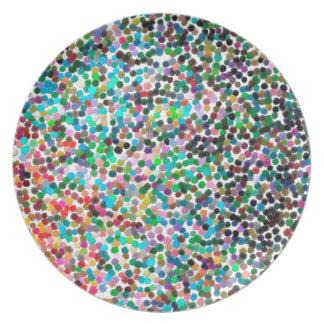 Prato o contemporâneo abstrato não colore nenhum 15