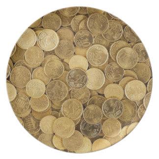 Prato O euro inventa o mercado Europa do amarelo do