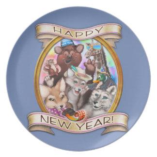 Prato O feliz ano novo - Frieda ata a placa collectible