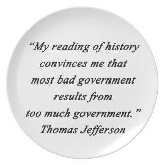 Prato O governo mau - Thomas Jefferson