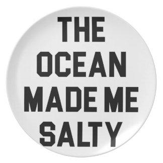 Prato O oceano fez-me salgado