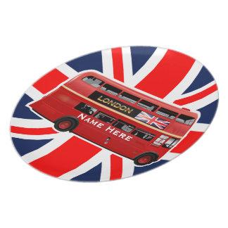 Prato O ônibus vermelho de Londres