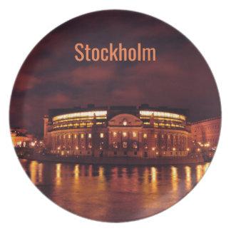 Prato O parlamento abriga em Éstocolmo, suecia