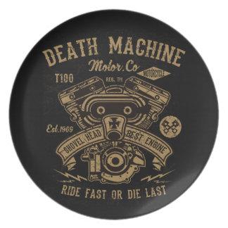 Prato O passeio do motor de Harley da máquina da morte