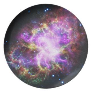 Prato O raio X de Chandra na nebulosa de caranguejo