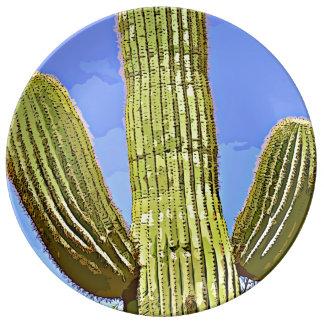 Prato O Saguaro arma a placa decorativa dos desenhos