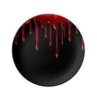 Prato O sangue de Falln goteja o preto