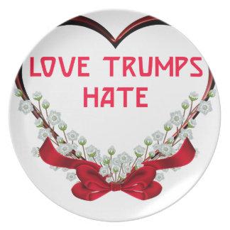 Prato ódio dos trunfos do amor