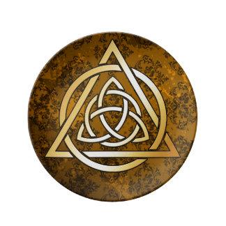 Prato Oferecimento ritual da feitiçaria medieval de