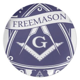 Prato Olho devista de Illuninati do Freemason