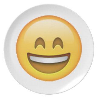 Prato Olhos fechados do sorriso - Emoji