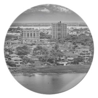 Prato Opinião aérea de Guayaquil do plano da janela