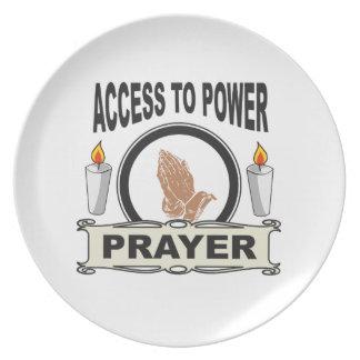 Prato oração o acesso ao poder