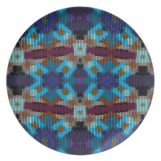 Prato Ornamento boémio no ethno-estilo, asteca