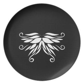 Prato Ornamento brancos pretos do Nordic de Sibéria