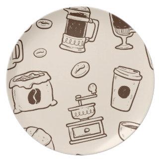 Prato Os feijões de café de Brown ilustraram o teste