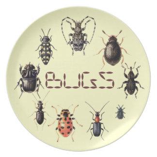 Prato Os insetos chapeiam para fãs do inseto