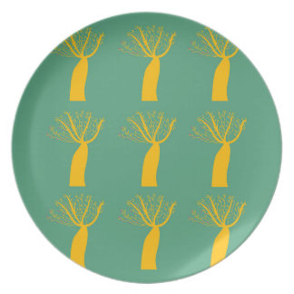 Prato Ouro dos Baobabs no verde do eco