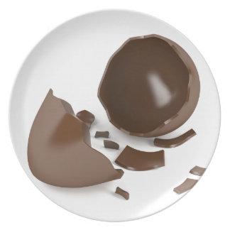 Prato Ovo de chocolate quebrado