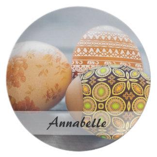 Prato Ovos da páscoa pintados rústicos