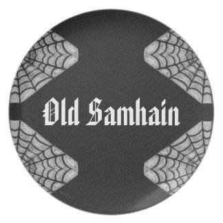 Prato Pagan idoso do feiticeiro da bruxa de Samhain da