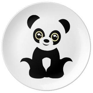 Prato Panda ilustrada bonito