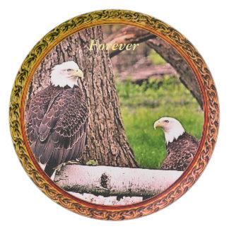 Prato Para sempre placa de coleção de Eagle