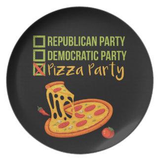 Prato Partido da pizza - votação engraçada da novidade